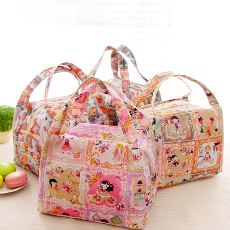 canvas cute girl lunch bag thermal bag lancheira  Insulated women bag picnic bolsa termica luch box for kids(China (Mainland))