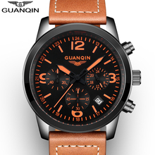 2016 GUANQIN Top Brand Men Watches Male Waterproof Quartz Watch With Calendar For Outdoor Sport relogio masculino(China (Mainland))