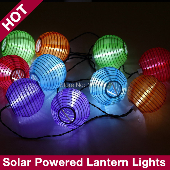Chinese String Lights Paper Lantern : 5M LED Lantern String Light Chinese Paper Lantern Party Festival Holiday Lamp Outdoor Garden ...