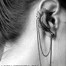 Sunshine vintage punk feather earrings E095(China (Mainland))