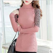 2015 new women's spring autumn winter thicken turtleneck pullover knitted sweaters women long slim sweater dresses(China (Mainland))