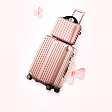 """Buy 20"""" 22"""" 24"""" luggage sets Aluminum frame universal wheels trolley rolling luggage male female hotsale for $115.99 in AliExpress store"""