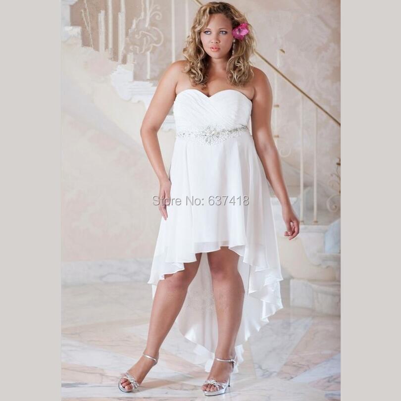 Stunning White Short Plus Size Dresses Photos - Mikejaninesmith.us ...