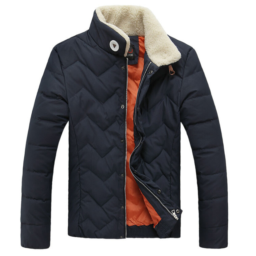 Duck Down Jacket Men High Quality Casual Jackets Jaqueta Inverno Stand Collar Casual Padded Winter Coat