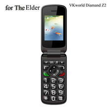 Vkworld Diamond VK Z2 Senior Elder Flip Mobile Phones,2.4 inch with Qwerty Keyboard 2g GSM 0.3MP 800mAh,FM cellphone(China (Mainland))