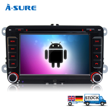 A-Sure Android 4.4 In Car GPS Navigation DVD Player for VW PASSAT B6 Jetta Polo Sharan TIGUAN CADDY GOLF Transport T5 (K8W7)(China (Mainland))