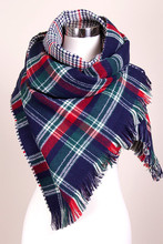 Fashion Winter 2015 Tartan Scarf Desigual Plaid Scarf cuadros New Designer Unisex Acrylic Basic Shawls for Women