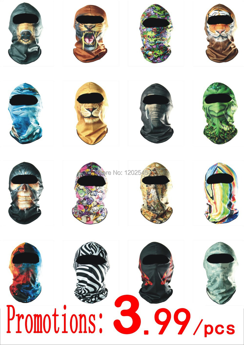 3D Brand Cycling Motorcycle Balaclava Headwear Ski Neck Protecting Masks Outdoor Bicycle Bike Hunting Protection Full Face Mask - Professional Factory Store store