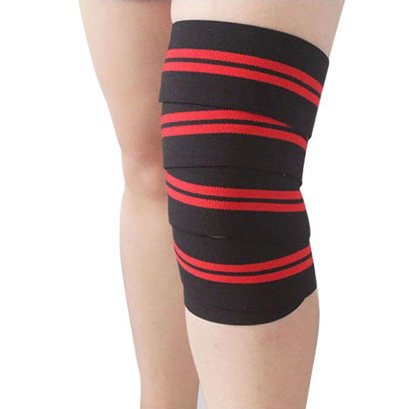Weightlifting Elastic Bandage Knee Leg Straps Training Support Wraps Sport Belt Band(China (Mainland))