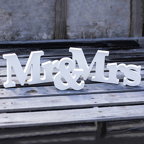 Hot Wedding Reception Sign English Letters Mr & Mrs Table Centrepiece Decor(China (Mainland))