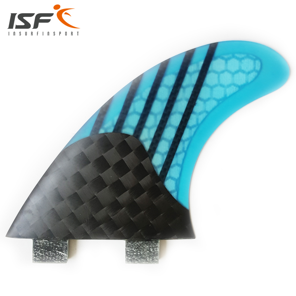 Insurfin Carbonfiber Square Half Carbon Surfboard Fins Thruster Fin Set (3) FCS G3 G5 G7 blue gray red green(China (Mainland))