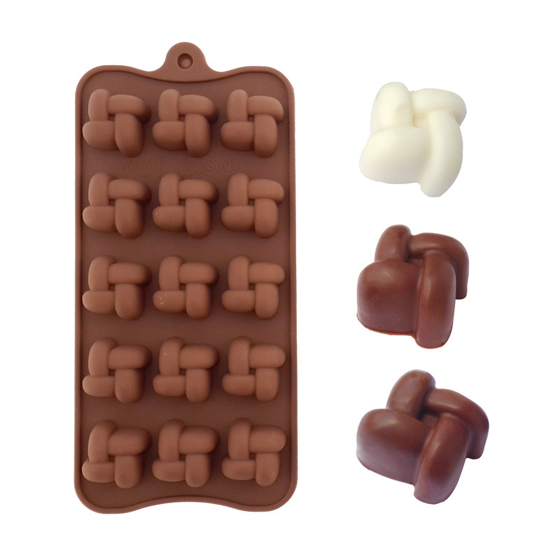 New Arrival 3D Chinese Knot Cake Mold Fondant Cake Molds Soap Chocolate candy Mold For The Kitchen Baking Cake Tools 51041(China (Mainland))