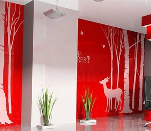New arrival diy tv wall stickers colored drawing wall stickers(China (Mainland))