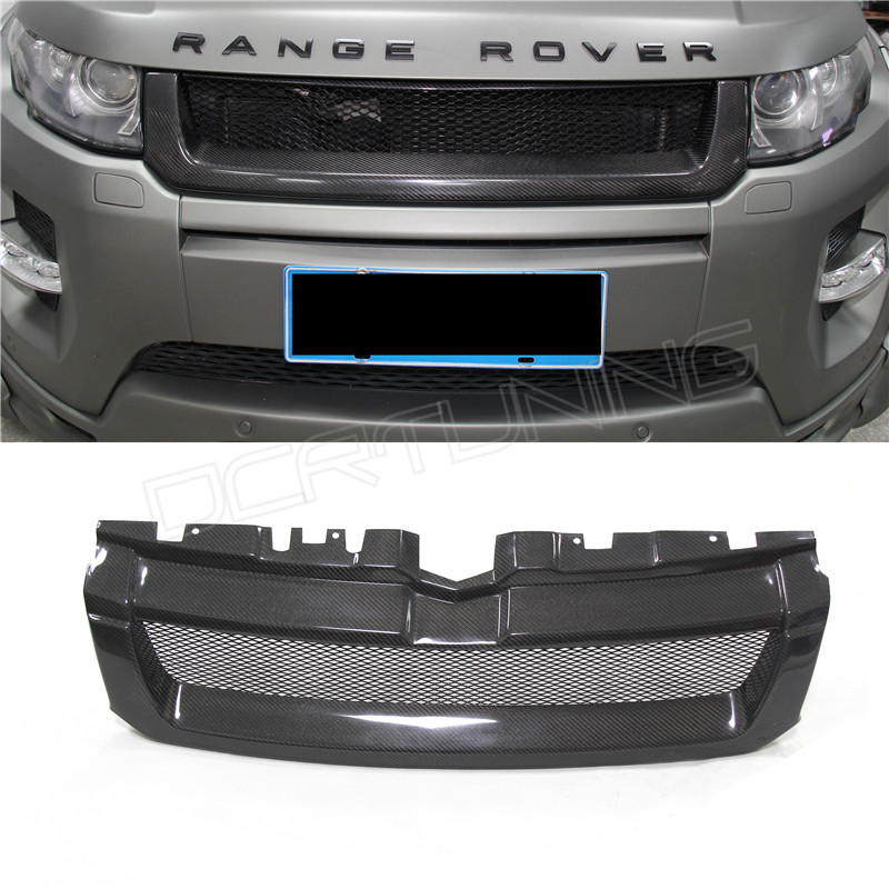 For Land Rover Range Rover Evoque 2012 2013 2014 2015 Carbon Fiber Front Grille(China (Mainland))