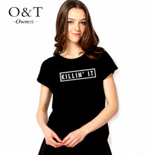 2015 new summer graphic letter printed funny tshirts women tops for girls woman unisex female plus