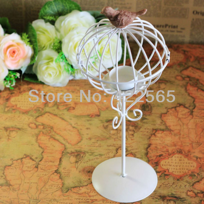 European Style Wedding Candle Holder Metal Lantern Birdcage Party Decoration (With Stand!),#41010(China (Mainland))