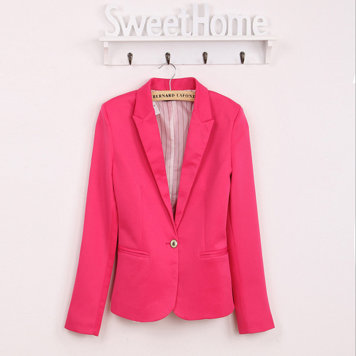 2016 blazer women suit blazer foldable brand jacket made of cotton & spandex with lining Vogue refresh blazers Free shipping