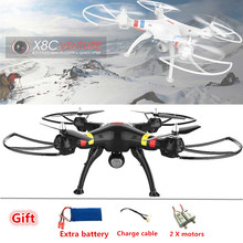 Syma X8C 2.4G 4CH 6Axis Professional RC Drone with Camera 2.0mp hd 50cm Big Quadcopter Helicopter vs mjx x101 x8w dron