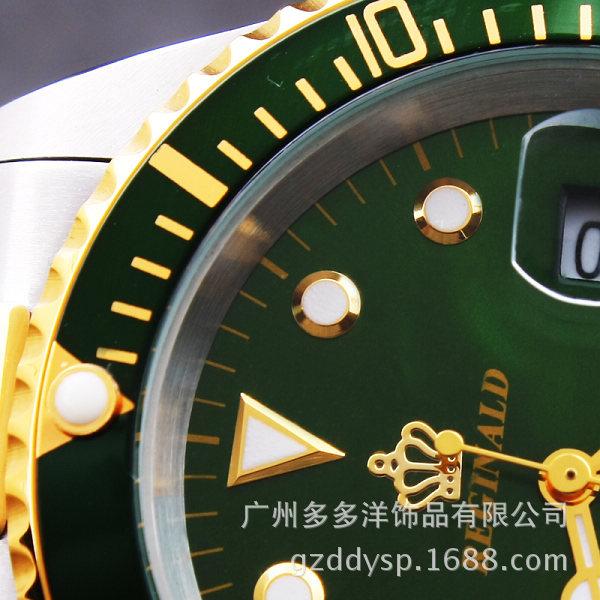 Роскошные HK Бренд Моды для Мужчин Платье Сапфировое Стекло GMT Дата Полный Нержавеющей Стали Платье Кварцевые Золотые Часы Бизнес Часы