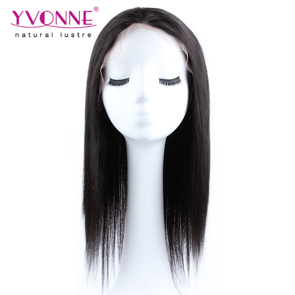 Hot Sale 15% OFF Natural Straight Brazilian Lace Front Wigs,Alixpress Yvonne Hair,100% Human Hair Wig,Women's Wig,Color 1B(China (Mainland))