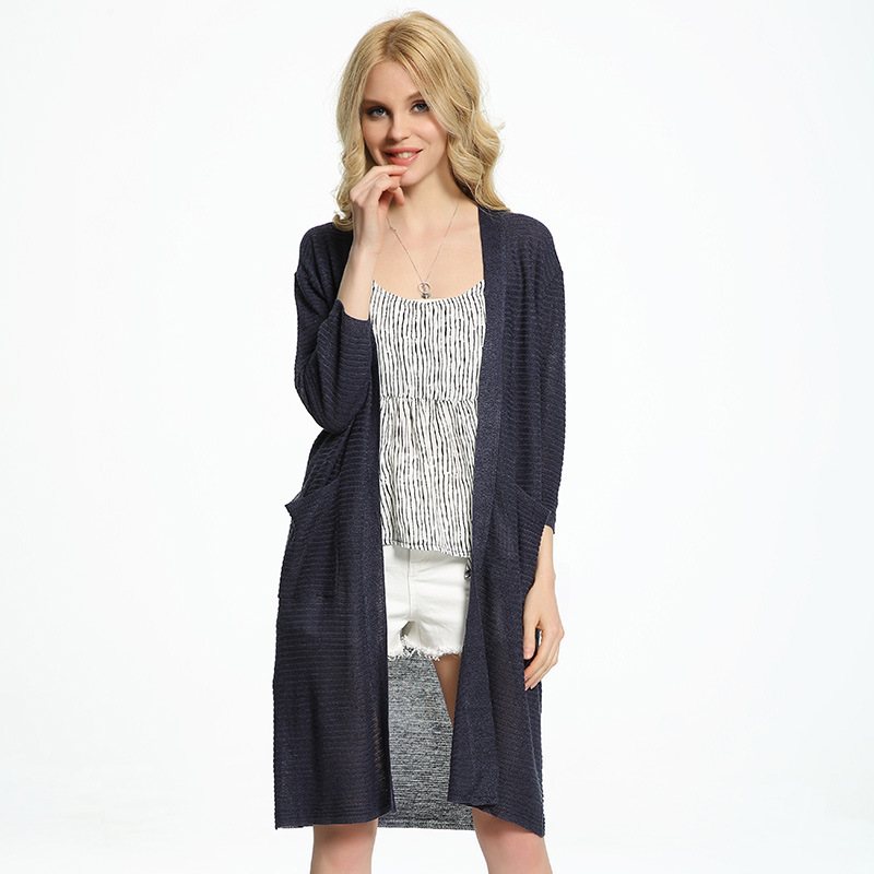 Summer long cardigan women knitted shawl cardigan thin section poncho knitted Slim long Sun Protection Air conditioning shirt(China (Mainland))