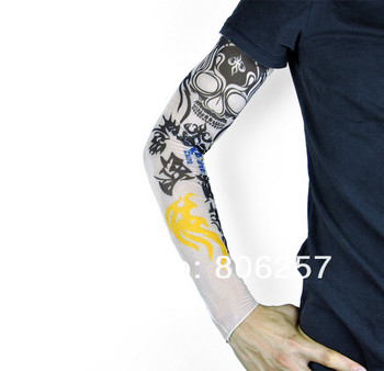 Tattoo Sleeve novelty body arm stockings body armor Fake tattoo totem skull tattoo sleeve Mixed Order accept 5 pcs/lot