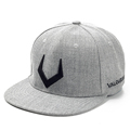 High Quality Grey And Black Wool Snapback 3D Russian Antler V Letter Embroidery Hip Hop Cap
