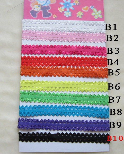 500pcs Girl's small Elastic headbands,baby stretchy laced head bands unisex Headwrap Children's hair adorn accessories hair wear