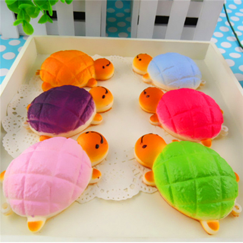 3x Universal Stylish Squish Charm Soft Tortoise Bread Strap for iPhone for Samsung for Smart Mobile Cellphone Decor Color Random(China (Mainland))