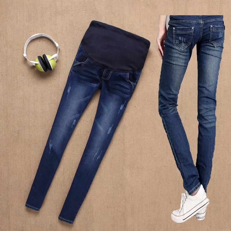 Гаджет  2014 Hot Sale New Fashion Women Maternity Jeans Pregnant Clothes Prop Jean Pants Trousers Jeans Pregnancy Clothes Motherhood None Детские товары