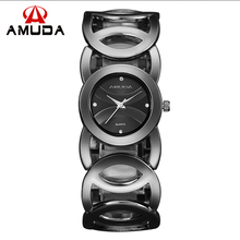 AMUDA 2016 Gold Watch Women 5 Colors High Quality Shinning Women Watches Brand Ladies Watch