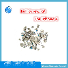 10sets/lot Replacement Full Screw Kit for iphone 4 4g Complete screw set Open mobile phone Repair supporting tools Free shipping(China (Mainland))
