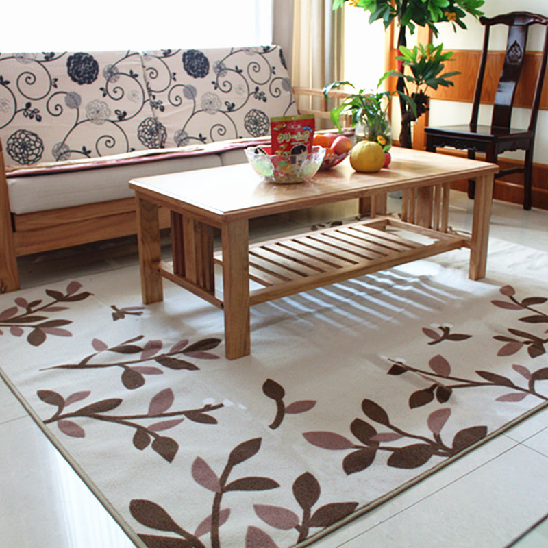 170X220CM Big Carpets For Living Room Soft Suede Home Bedroom Rugs And Carpets Pastoral Leaves Coffee Table Area Rugs/Floor Mat(China (Mainland))