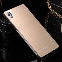 Buy Luxury Motomo Aluminum Brushed Hard Metal Armor Case Sony Xperia Z4 Z3+ / Z3 Plus / E6553 Phone Back Cover Cases for $1.38 in AliExpress store