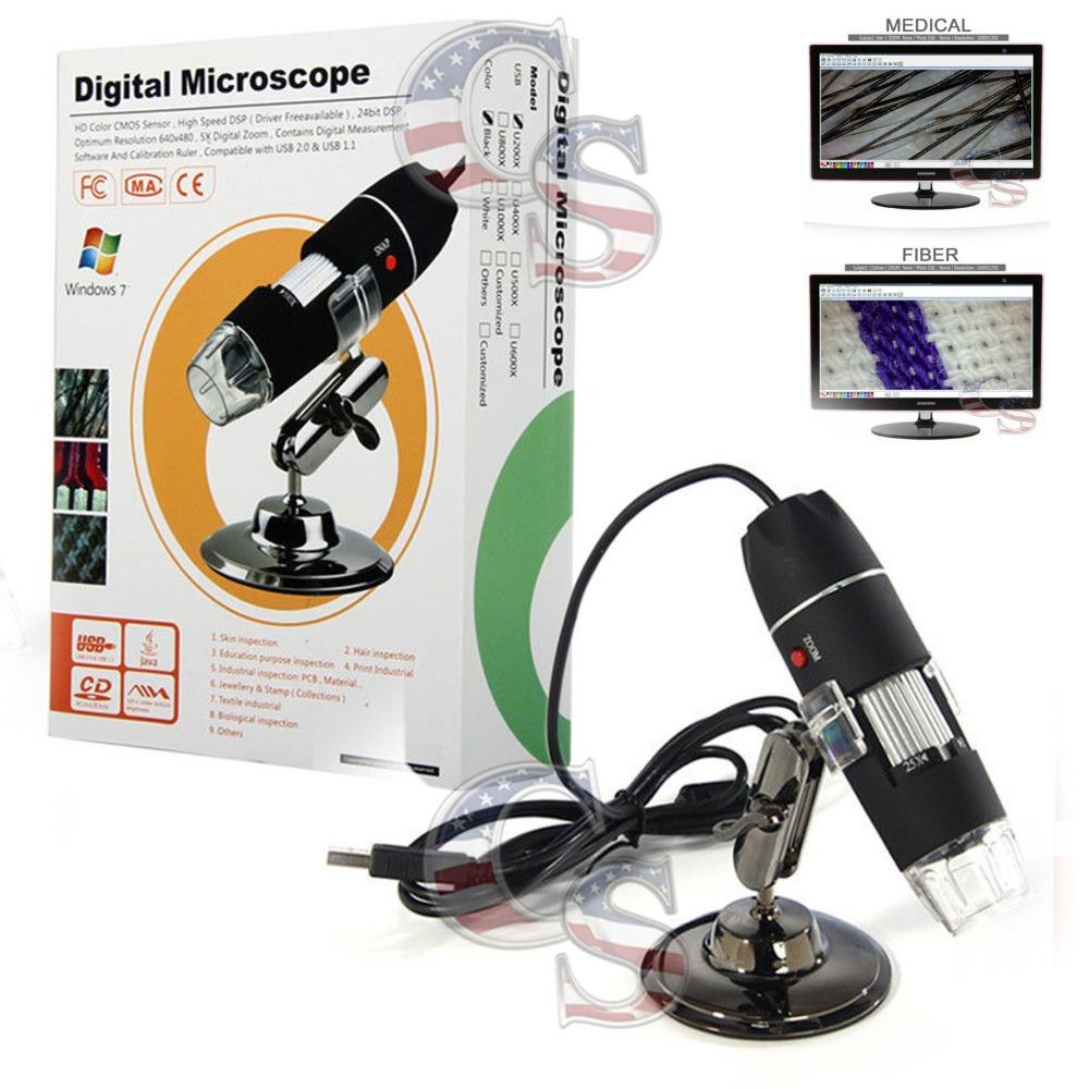 50 500 X 2 MP USB 8 LED Digital Microscope Microscope Endoscope caméra vidéo Magnifier(China (Mainland))