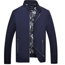 2016 pria Pakaian Merek Musim Gugur Musim Semi Kualitas Baik Padat Bisnis pria Kerah jaket kasual mantel Pakaian Luar M-3XL SJ029