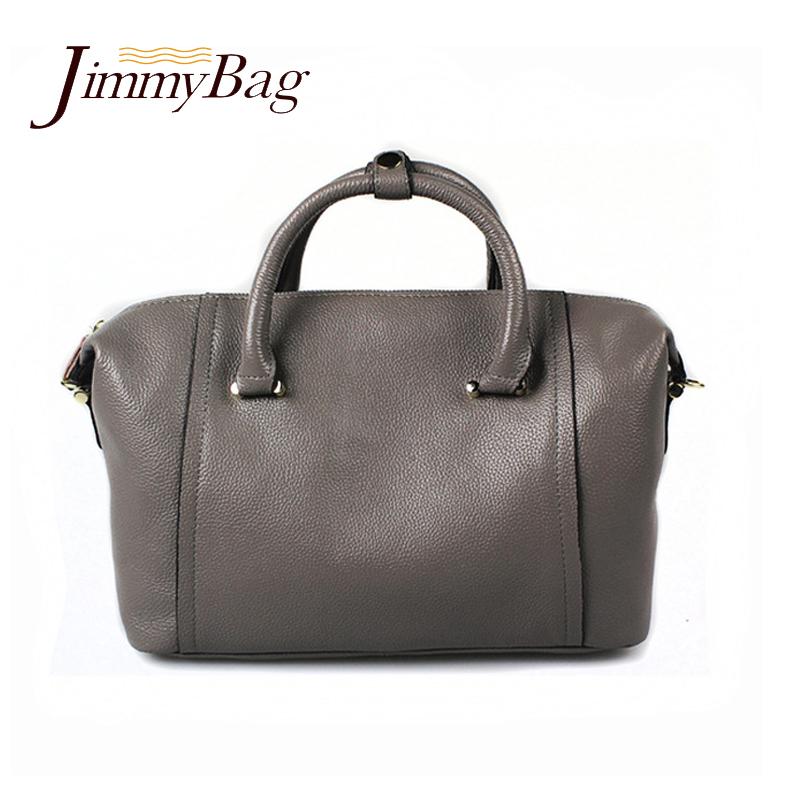 New winter fashion Brand genuine real leather handbag cowhide shoulder bag large capacity Boston bag ladies totes soft bolso <br>