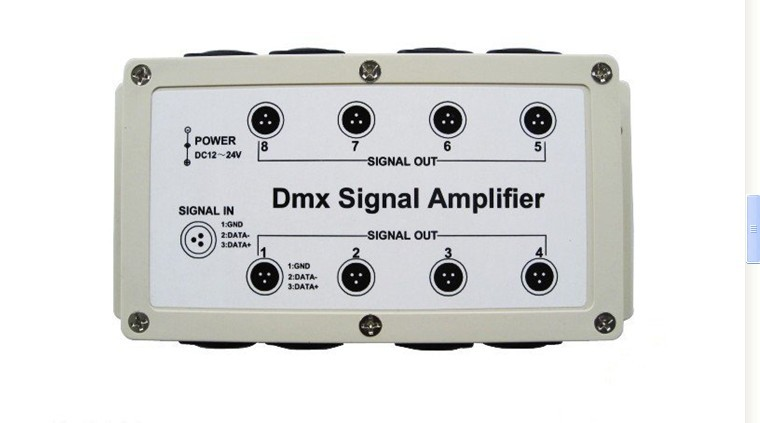 DMX DMX512 8 Channel Output LED Controller Signal Amplifier Splitter Distributor ,freeshipping, wholesale(China (Mainland))