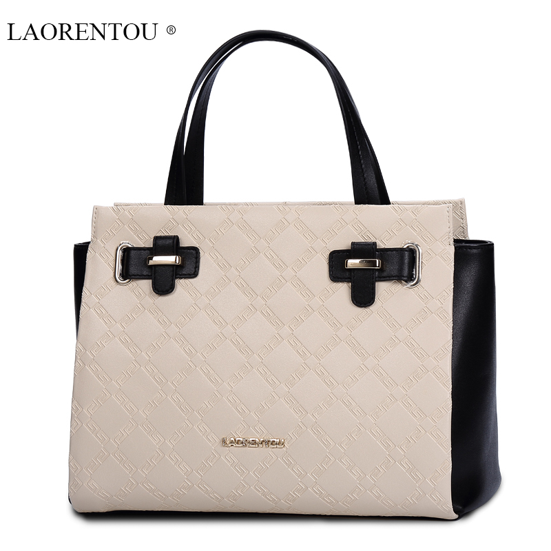 LAORENTOU women high quality bag 2015 famous brand genuine leather  fashion Modern Princess Plaid handbag womens messenger bags<br><br>Aliexpress
