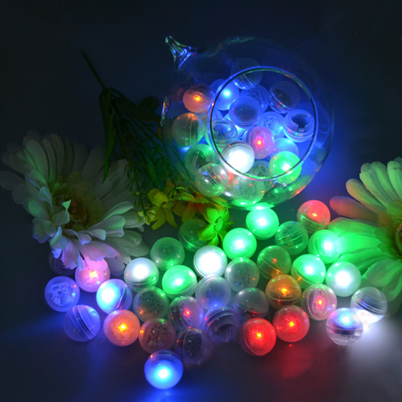12pcs Battery Operated Mini Fairy LED Ball Light Pearl Colorful Floating LED Berries Light For Wedding Decoration Party Supplies(China (Mainland))