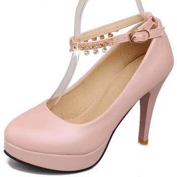 ENMAYER new shoes Women Pumps Fashion Sexy High Heels  Party Wedding Shoes Ankle Straps Shoes Platform Pumps  Hot