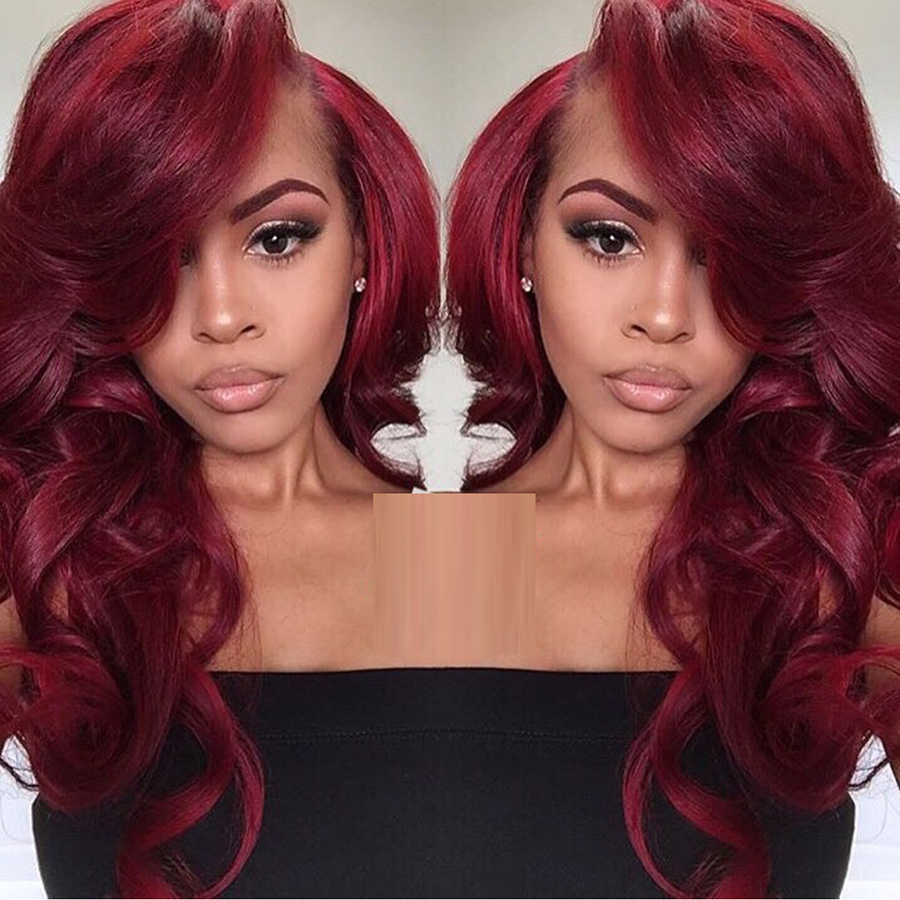 Red Wine Lace Front Wig White Wigs Online