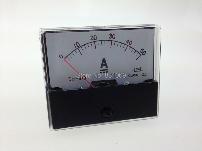 Free Shipping Analog Amp Panel Meter Current Ammeter DC 0-50A 50A<br><br>Aliexpress