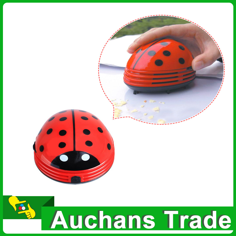 Special Offer New Arrival Cute Beetle Ladybug Cartoon Desktop Vacuum Desk Dust Table Cleaner Portable Mini Keyboard Cleaner(China (Mainland))