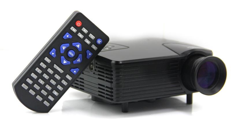 Проектор H100 80lumen TV/AV/VGA/SD/USB/HDMI #161329 проектор unbrand uc28 av hdmi av vga usb sd