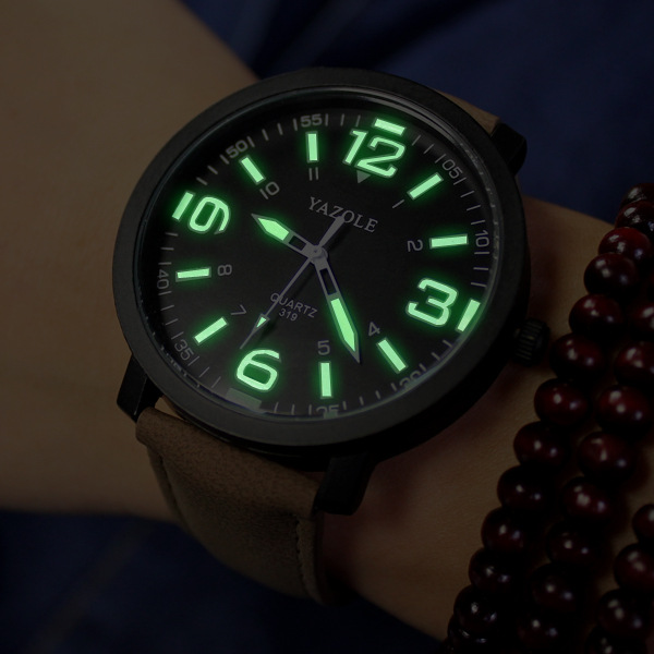 watch men selling models simple scale big box digital luminous quartz watch belt wind College Students(China (Mainland))