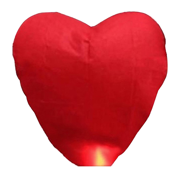 Heart Shaped Sky Lantern Chinese Kongming Lantern Wishing Lamps (Red)(China (Mainland))