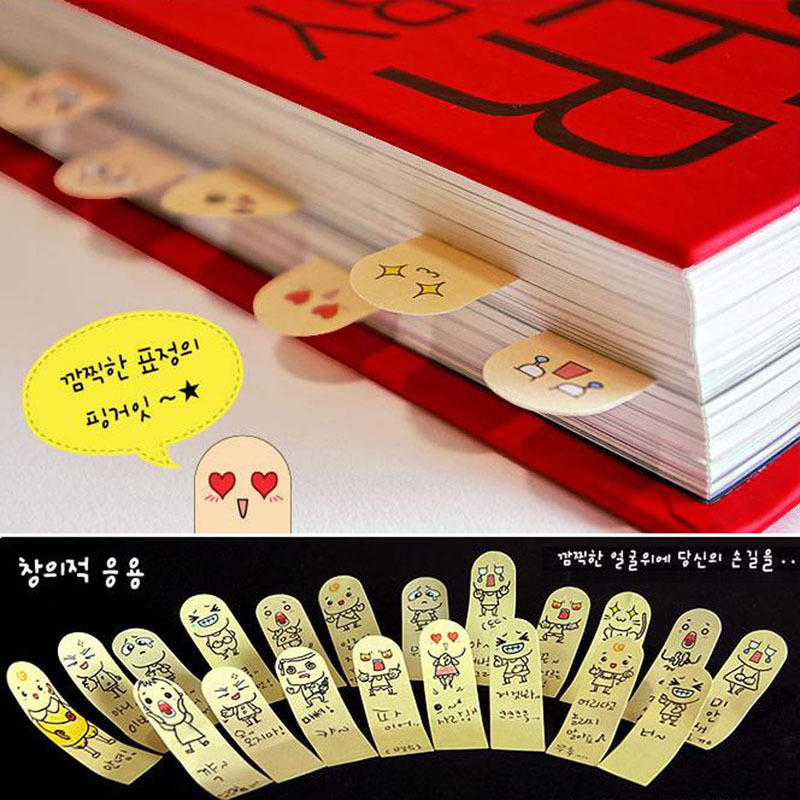 High Quality cute 200 Pages Ten Fingers Sticker Post It Bookmark Tab Memo Marker Sticky Notes Funny Pads(China (Mainland))