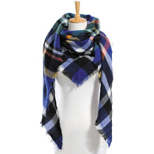 Top quality Winter Scarf Plaid Scarf Designer Unisex Acrylic Basic Shawls Women's Scarves hot sale VS051(China (Mainland))