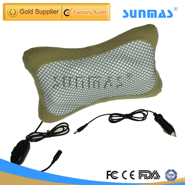 SUNMAS SM9130 car healthcare Infrared heating neck massage pillow electronic 2014 new massager free shipping(China (Mainland))